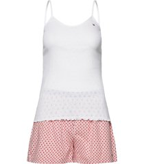 cami short set pointelle pyjamas vit tommy hilfiger