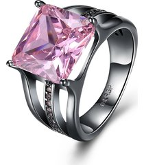 il regalo elegante degli orecchini del diamante del rhinestone del zircon placcato nero della pistola di 12mm degli inalis donne