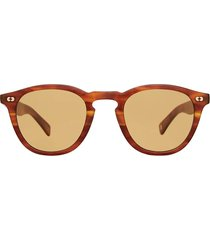 garrett leight garrett leight hampton x sun honey amber tort sunglasses