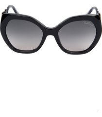 roberto cavalli women's 57mm cat eye sunglasses - black