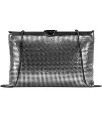 patricia nash metallic mesh asher gate frame clutch