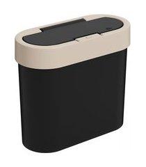 lixeira automática coza flat 2.8 l preto e cinza claro