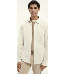 scotch & soda 160777 0220 off white slim fit classic knitted overhemd -