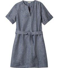 linnen jurk, indigo gemêleerd 38