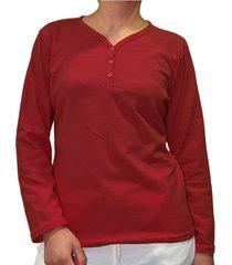 camiseta manga larga vinotinto santana henley