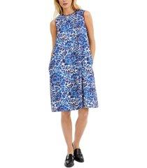 weekend max mara printed sleeveless shift dress