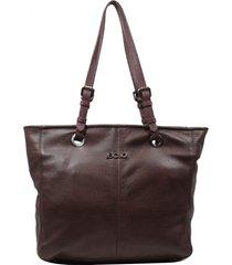 bolsa em couro recuo fashion bag shopper castor/vinho