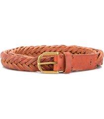 ajmone braided strap belt - brown