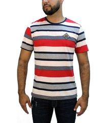 camiseta rayas rojo para hombre delascar ts024