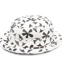 10 corso como floral jacquard bucket hat - white