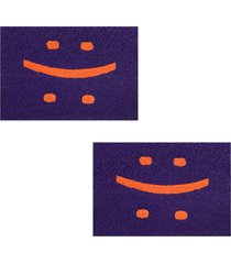 2 capachos divertido p/ porta 60x1,2m smile95 - roxo - feminino - dafiti