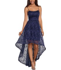 xscape lace high-low gown