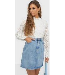 pieces pclou hw denim skirt lb133-vi minikjolar