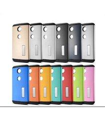 unbranded google nexus 6 slim case kickstand tpu bumper cover armor [multicolor]