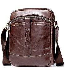 vera pelle business casual shoulder borsa crossbody borsa per uomo