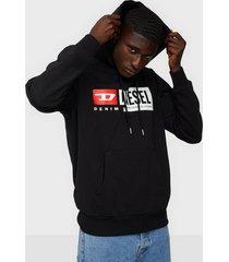 diesel s girk hood cuty sweatshirt tröjor black