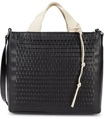 remy woven leather tote
