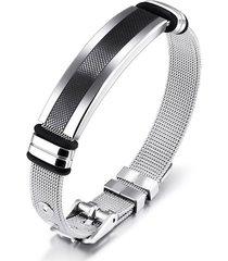 pulsera manilla hombres acero inoxidable 18.5cm 80545