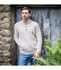 the kilkee aran sweater beige xxl