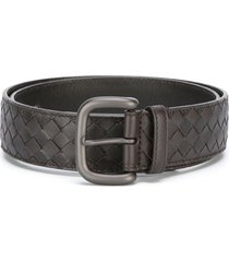 bottega veneta intrecciato weave belt - brown
