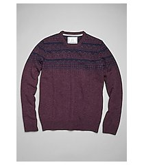 1905 collection wool blend quarter zip mock neck men's sweater - big & tall