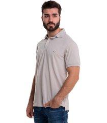 camiseta polo hamer, unicolor basica hp2016 color kaki