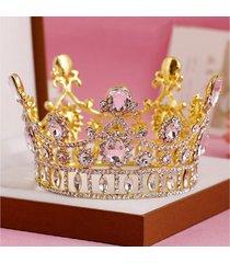 la fascia del partito di promenade nuziale di cerimonia nuziale della parte superiore del diadema di cristallo della regina della principessa della sposa della sposa
