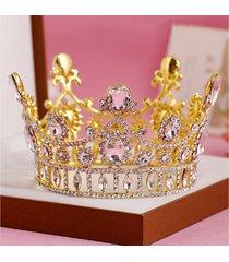 sposa oro principessa regina strass cristallo tiara corona nuziale prom partito fascia