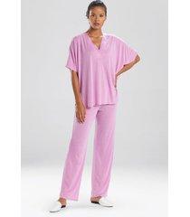congo dolman pajamas, women's, purple, size xs, n natori