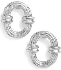women's karine sultan textured hoop earrings