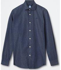 camicia in denim di cotone