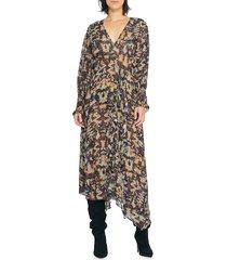 iro women's jorma printed maxi dress - khaki black - size 36 (4)