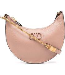 valentino garavani vsling plaque hobo bag - pink