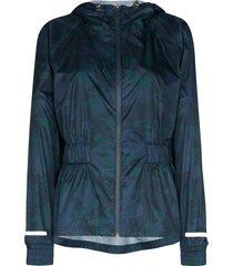 sweaty betty storm seeker camouflage-print jacket - blue