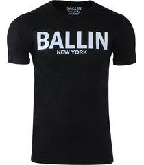 ballin est. 2013 heren t-shirt ronde hals regular fit zwart