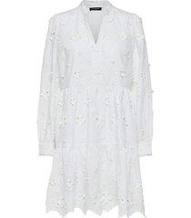 applique long sleeve short dress