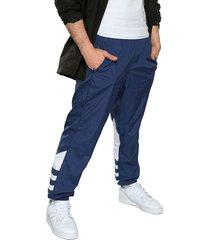pantalón azul-blanco adidas originals gran trifolio