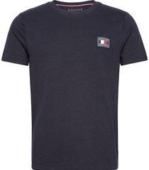 icon essentials tee t-shirts short-sleeved blå tommy hilfiger