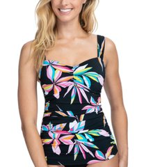 profile by gottex paparazzi underwire tummy control tankini top, available in d cup women's swimsuit