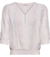haylacr blouse blouse lange mouwen wit cream
