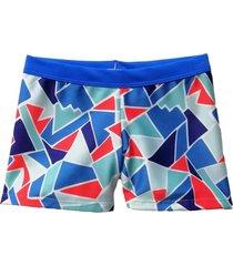 boxer azul brillantina lirio geometrico