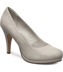 woms court shoe shoes heels pumps classic grå tamaris