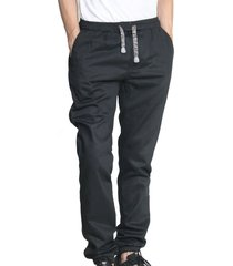 pantalón dril cintura y botas resortadas aranzazu tekk negro