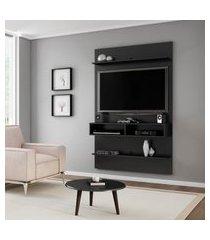 painel móveis bechara vega tv até 42 pol 2 prateleiras preto fosco
