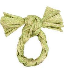françoise headband de tricô e lurex - verde