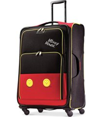 "american tourister disney mickey mouse pants 28"" spinner suitcase"