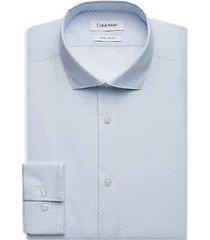 calvin klein sapphire white dot slim fit dress shirt