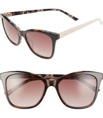 women's ted baker london 54mm cat eye sunglasses - tortoise/ brown
