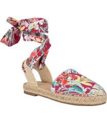 tommy hilfiger women's kimey ankle tie espadrilles women's shoes
