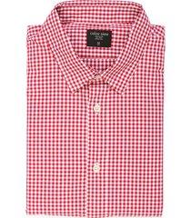 camisa manga larga color siete para hombre  - rojo